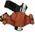 TAGUA BROWN LEATHER DUAL SNAP ON QUICK DRAW OWB BELT HOLSTER RUGER SR9 SR40