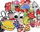 24pcs random assorted Iron-on or Sew-on Embroidered patch Motif Applique