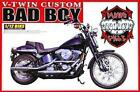 Aoshima 1:12 V-Twin Custom Bad Boy Motorcycle - Plastic Model Kit #03459