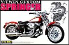 Aoshima 1:12 Springer V-Twin Custom Motorcycle - Plastic Model Kit #00601