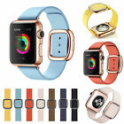 Modern Buckle Strap Magnetic Genuine Leather Wrist Band for Apple Watch 4 3 2