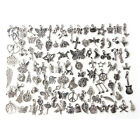 Wholesale 100pcs Bulk Lots Tibetan Silver Mix Charm Pendants Jewelry DIY HP