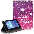 Keep Calm And Sparkle 7 8 10 Tablet Universal Flip Stand Box Case For Samsung