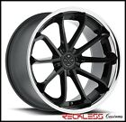 22 BLAQUE DIAMOND BD23 CONCAVE BLACK WHEELS RIMS FITS NISSAN MURANO