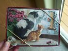 New 10 LEANIN TREE CHRISTMAS CARDS Cats Looking at Birds Outside