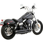 Vance and Hines Black Big Shots Staggered Exhaust for Harley Dyna 06 17