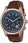 GUESS Men''s U0500G1 Rose Gold-Tone Stainless Steel Watch with Honey Brown Band