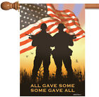 NEW Toland Some Gave All Patriotic USA War Veteran Memorial House Flag
