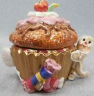 Fitz & Floyd Candy Lane Express Cupcake Covered Candy Dish i189