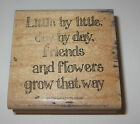 Little Day Friends Flowers Grow That Way Rubber Stamp Stampin Up Retired Rare
