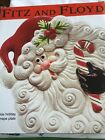 Fitz And Floyd Santa Yuletide Holiday Canape Plate *New In Box*
