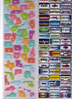 Recollections US STATES Plates  Embellishment Stickers 3 Varieties Georgeous