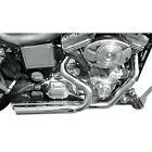 Bassani Chrome Pro Street Optional Heat Shields for Harley Dyna 91 05