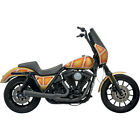 Bassani Black Road Rage 2 Into 1 Short Exhaust Harley FXR 84 00 w Pegs