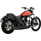 Vance  Hines Black Hi Output Short 2 into 1 Exhaust for Harley Softail 86 17
