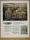 1961 Hewlett-Packard factory workers photo Honeywell Thermostat vintage print Ad
