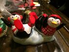 Fitz and Floyd  Cool Christmas Shaker Set PENGUINS