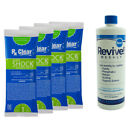 REVIVE Swimming Pool Start Up Opening Chemical Kit For Pools Up To 30000 Gallon