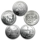 2011 5 Coin 5 oz Silver America the Beautiful Set SKU 98458