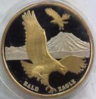 1 oz 999 Fine Silver 1991 ALASKA REGISTRY LIMITED EDITION Gold Gilted Eagle