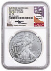 2015 W Burnished Silver Eagle NGC MS70 First Day of Issue Mercanti SKU44846