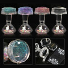 1Set Clear Jelly Nail Art Stamping Plate Stamper  Scraper Manicure DIY Tool Kit