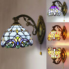 Stained Glass Wall Sconce Single Lamp Tiffany Indoors Wall Light Dragonfly