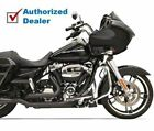 New Bassani Black True Dual Down Under Exhaust Header Pipes 2017 Harley Touring