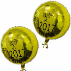 6 Gold Chinese New Year 2017 Zodiac Animal Rooster Year Printed Foil Balloons