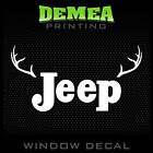 Jeep Retro Antlers Personalized Window Car Decal Sticker 5