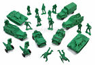 Vintage 1950's 24 pc Auburn Rubber Military Army Soldier Men, Toy Vehicles