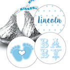 108 Baby Boy Shower Hershey Kiss Stickers Party Favors Decoration Blue