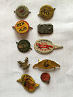 Original Lot of 10 Antique  Vintage Different Tobacco Tags 1880 1920