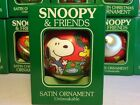VTG 1965 PEANUTS SNOOPY SATIN BALL CHRISTMAS ORNAMENT UNITED FEATURE SYNDICATE