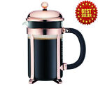 Coffee Maker French Press Copper Great Perfect For Gift Mesh Filter 34oz 8 cup