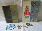 Vintage Lot of Girl Scout Items Pins Patches Books