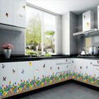 Flower Grass Butterfly Wall Border Decal Removable Windows Stickers Decor