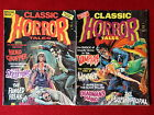 Lot of 2 Classic Horror Tales Vintage Comic Magazines Creepy Eerie Monsters