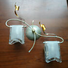 EX STORE DISPLAY Floral 2 Lt Decorative Wall Light w Frosted Shades Litecraft