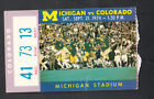 Michigan Wolverines vs Colorado September 21 1974 Vintage Ticket Stub