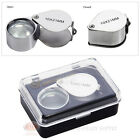 10x Jewelers Magnifying Glass Lens Round Loupe Metal Chrome Pocket Magnifier