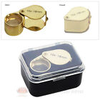 10x Jewelers Magnifying Loupe Metal Gold Tone Magnifier Glass Lens
