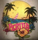 Vintage 70s Florida Paradise Iron On Transfer by LH Day Glo Super RARE