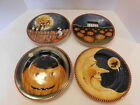 Sakura Halloween PUMPKIN HOLLOW 4  Salad Dessert Plates David Carter Brown