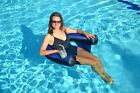 Swimline 90465 Inflatable Blue Fabric Nylon Covered Swimming Pool U Seat Chair