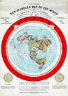 Flat Earth Map of the World by Alexander Gleason made 1892 Poster Size 16