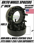8X170 WHEEL SPACERS 2 INCH HUBCENTRIC FITS FORD F 250 F 350 SUPERDUTY EXCURSION