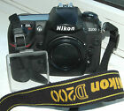 Nikon D D200 102MP Digital SLR Camera Black Body Only shutter count 3841
