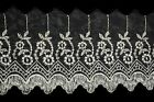 Unotrim 4 Embroidered DIY Sheer Organza Floral Lace Trim Scalloped Edge By Yard