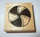 Beach Ball Rubber Stamp JRL Design At The Beach Toy Vacation Wood Mounted Retire